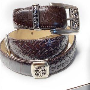 Brighton Brown Leather  belt L